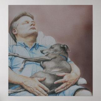 """Nap Buddies"" Italian Greyhound Print"