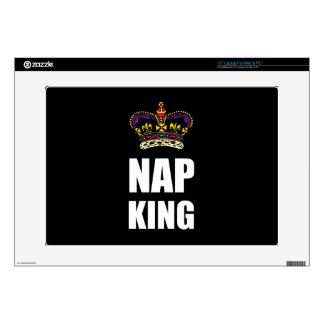 Nap King White Laptop Skins