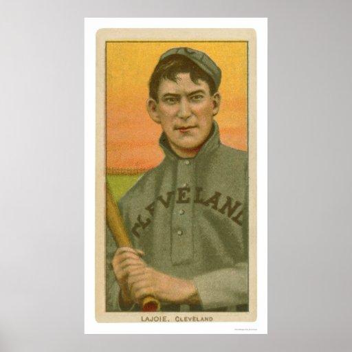 Nap Lajoie Baseball Card 1910 Poster