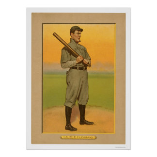 Nap Lajoie Cleveland Baseball 1911 Poster