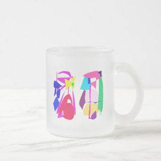 Nap 10 Oz Frosted Glass Coffee Mug