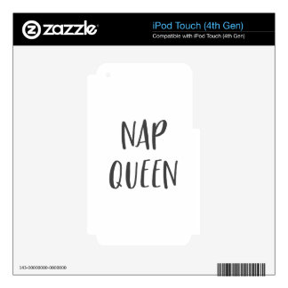 Nap Queen Saying Decal For iPod Touch 4G