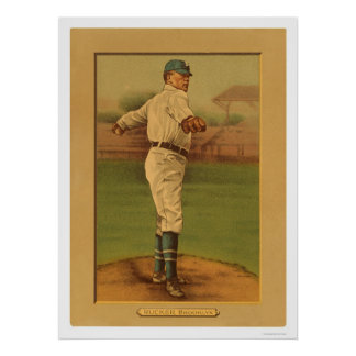 Nap Rucker Dodgers Baseball 1911 Poster