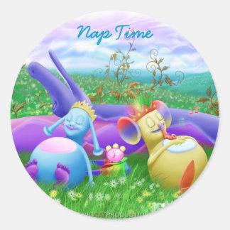 Nap Time Classic Round Sticker