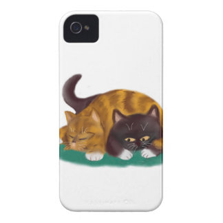 Nap Time flopped across big kitty iPhone 4 Case-Mate Case