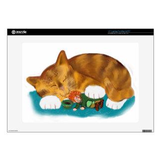 Nap Time for Leprechaun and  Orange Tiger Kitten Skins For Laptops