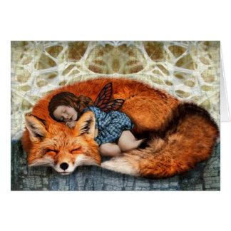 Nap Time (Fox & child) Greeting Card