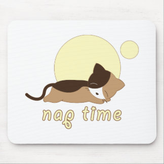Nap Time Kitty Cat Mousepad
