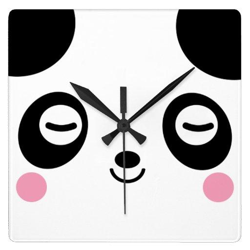 Nap Time Panda Clock