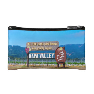 Napa California Wine Country Makeup Bag