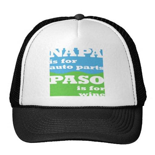 NAPA está para las piezas de automóvil… PASO está  Gorro