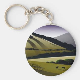 Napa Hills Basic Round Button Keychain