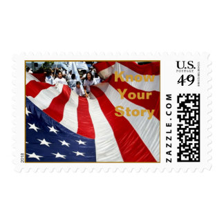 Napa-July4th.08 GrandFinale, Know Your Story Postage Stamp