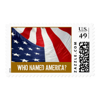 Napa-July4th.08 GrandFinale, Who Named America? Postage