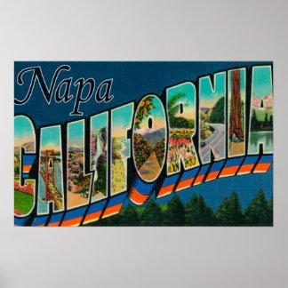 Napa, letra ScenesNapa, CA de CaliforniaLarge Posters