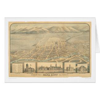 Napa, mapa panorámico del CA (0684A) Tarjeta De Felicitación