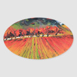 Napa Valley by Lisa Elley Oval Sticker