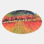 Napa Valley by Lisa Elley Oval Sticker