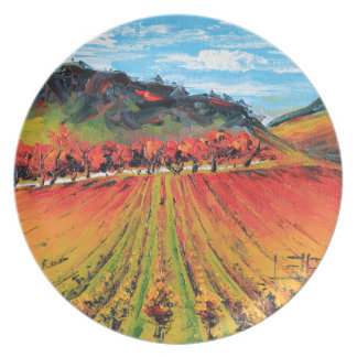 Napa Valley by Lisa Elley Party Plates
