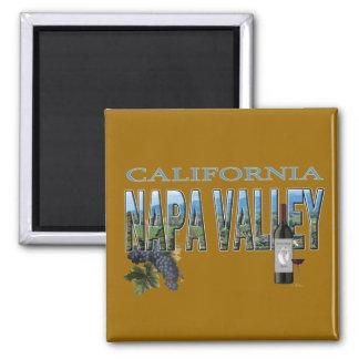 Napa Valley, CA 2 Inch Square Magnet