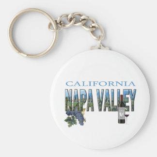 Napa Valley, CA Basic Round Button Keychain