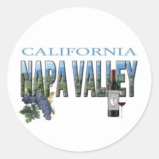 Napa Valley, CA Pegatina Redonda