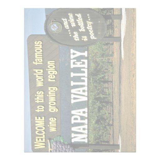 Napa Valley, California, los E.E.U.U. Membretes Personalizados