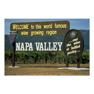 Napa Valley, California, los E.E.U.U. Poster