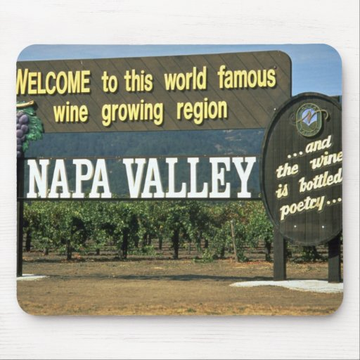 Napa Valley, California, los E.E.U.U. Tapetes De Ratones