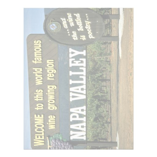 Napa Valley, California, USA Letterhead Design