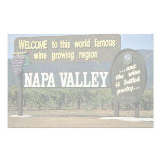 Napa Valley, California, USA Custom Stationery