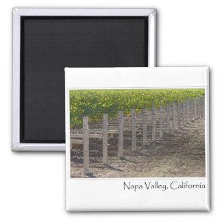 Napa Valley California Vineyard 2 Inch Square Magnet