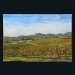 "Napa Valley California Vineyard Cloth Placemat<br><div class=""desc"">Napa Valley California Vineyard</div>"