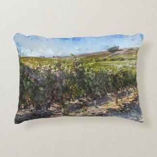 Napa Valley California Vineyard Decorative Pillow