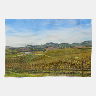 Napa Valley California Vineyard Kitchen Towel