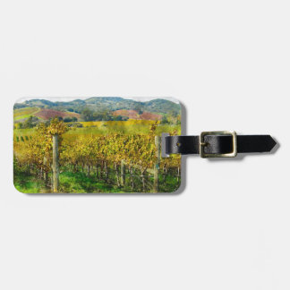 Napa Valley California Vineyard Luggage Tag