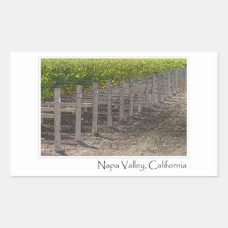Napa Valley California Vineyard Rectangular Sticker