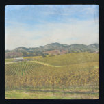 "Napa Valley California Vineyard Stone Coaster<br><div class=""desc"">Napa Valley California Vineyard</div>"