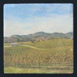 "Napa Valley California Vineyard Stone Coaster<br><div class=""desc"">Napa Valley California Vineyard</div>"