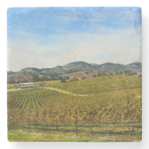 Napa Valley California Vineyard Stone Coaster