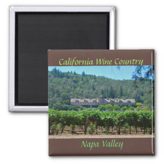 Napa Valley California Wine Country 2 Inch Square Magnet