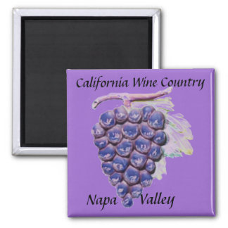Napa Valley, California Wine Country 2 Inch Square Magnet