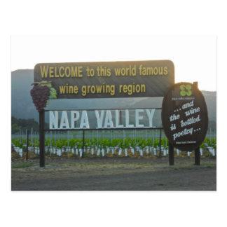 Napa Valley, California Wine Country Postcard