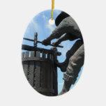 Napa Valley California Wine Press Monument Ornaments