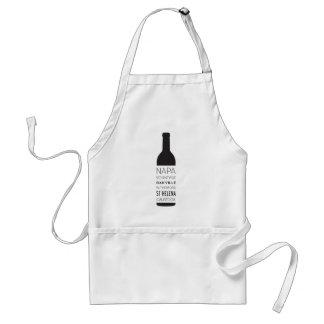 Napa Valley Cities Wine Bottle Adult Apron