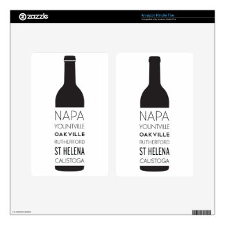 Napa Valley Cities Wine Bottle Decal For Kindle Fire