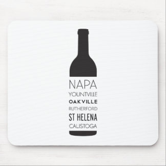 Napa Valley Cities Wine Bottle Mouse Pad