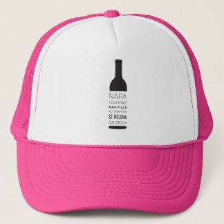 Napa Valley Cities Wine Bottle Trucker Hat