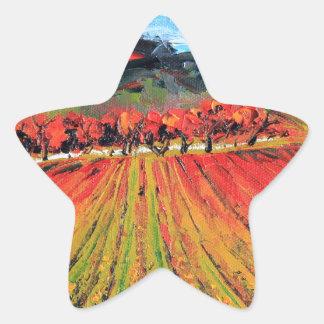 Napa Valley de Lisa Elley Pegatina En Forma De Estrella
