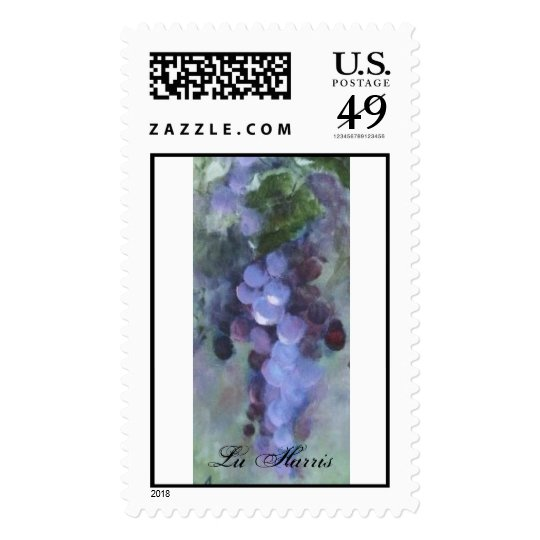 Napa Valley grape imagery postage